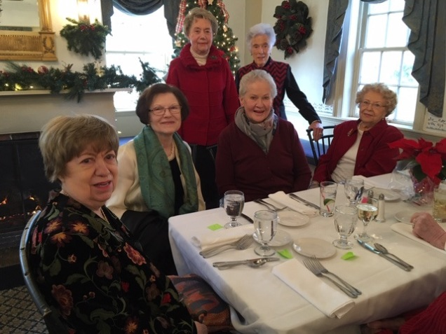 Enjoying each others' company at the Holiday Luncheon.