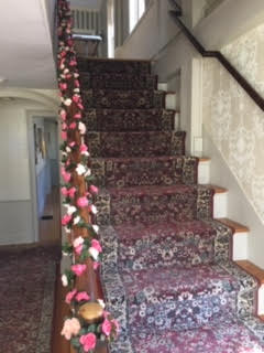 Stair railing decorations